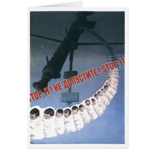 USSR CCCP Cold War Soviet Union Propaganda Posters Greeting Card