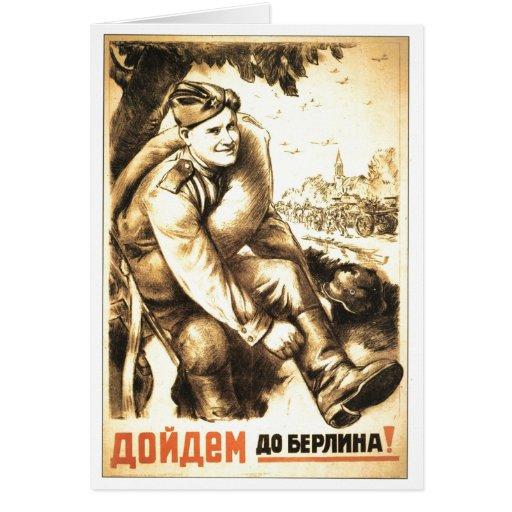 USSR CCCP Cold War Soviet Union Propaganda Posters Card