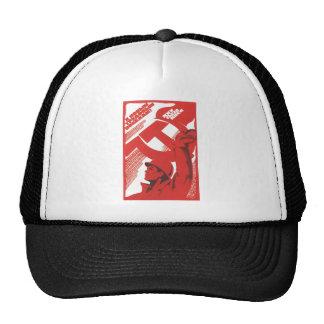 USSR CCCP Cold War Soviet Union Propaganda Posters Mesh Hat
