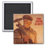 USSR CCCP Cold War Soviet Union Propaganda Posters Refrigerator Magnet