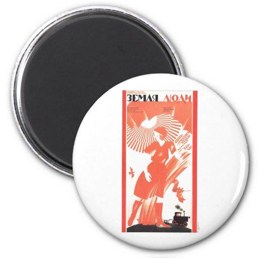 USSR CCCP Cold War Soviet Union Propaganda Posters Magnets