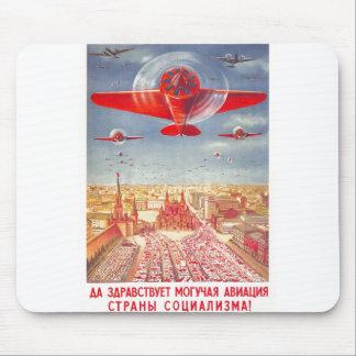 USSR CCCP Cold War Soviet Union Propaganda Posters Mouse Pad