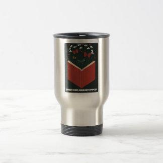 USSR CCCP Cold War Soviet Union Propaganda Posters Travel Mug