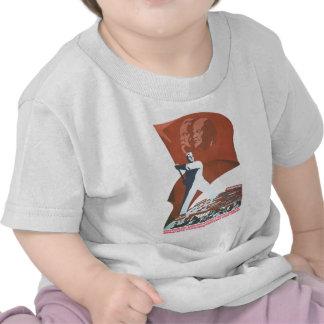 USSR CCCP Cold War Soviet Union Propaganda Posters T-shirts