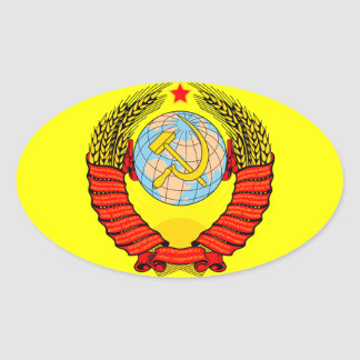USSR coat of arms Oval Sticker