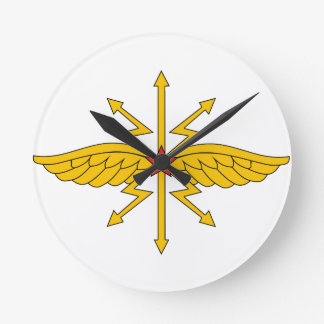 USSR Communication Troops, insignia (1936) Round Wall Clocks