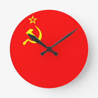 ussr country flag clock
