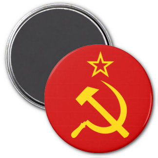 USSR flag 3 Inch Round Magnet