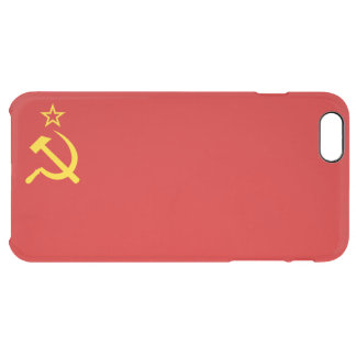 USSR flag Clear iPhone 6 Plus Case