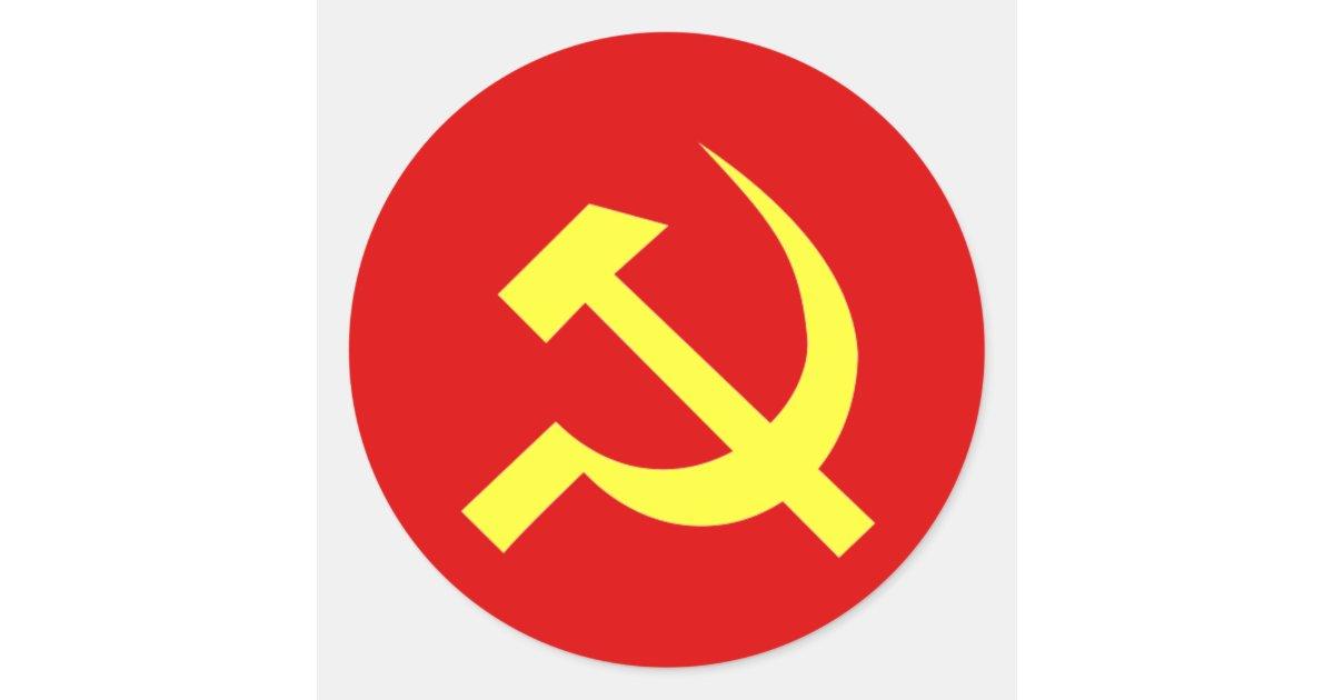 Ussr Flag Customized Classic Round Sticker Zazzle Com