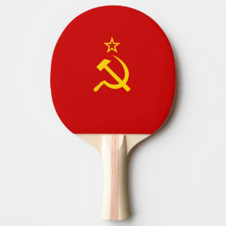 USSR flag Ping-Pong Paddle