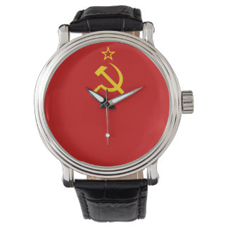 USSR flag Wrist Watch