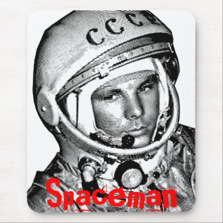 USSR Gagarin  Spaceman Cccp Mouse Pad