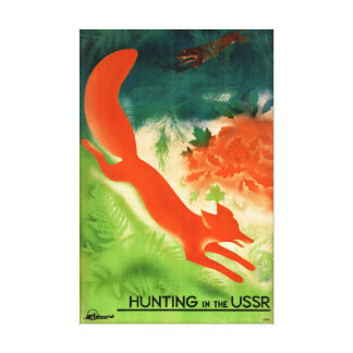USSR Hunting Restored Vintage Travel Poster Canvas Print