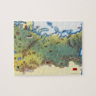 USSR, map of Union of Soviet Socialist Jigsaw Puzzle
