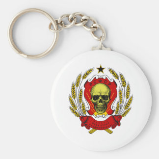 USSR Skull Keychain