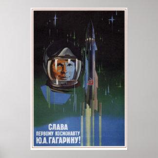 USSR Soviet Aviation Y. A. Gagarin 1961 Print