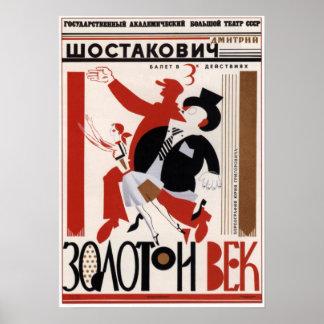 "USSR  Soviet Ballet ""Golden Age"" 1982 Poster"