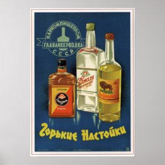 USSR Soviet Bitter Liqueurs Advertising 1938 Print