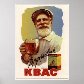 USSR Soviet Fruit Kvass Advertising 1959 Poster