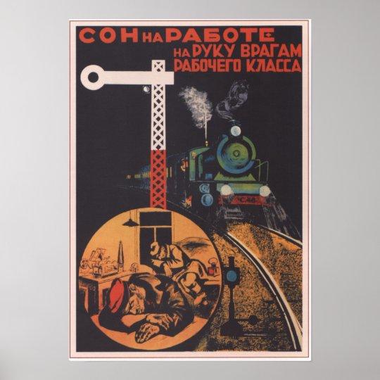 USSR Soviet Union 1931 Railroad Poster