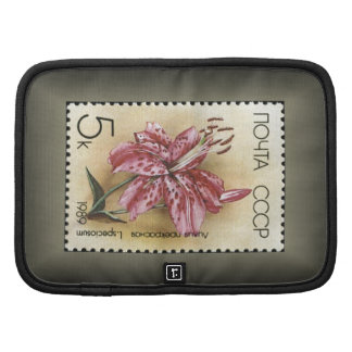 "USSR Stamp Lilies ~ ""Lilium Speciosum""~ 1989 Planners"