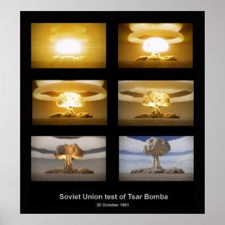 USSR Tsar Bomba test poster