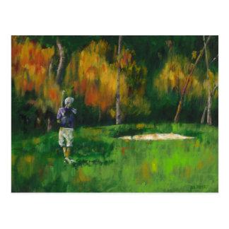 UST Autumn Golf Postcard