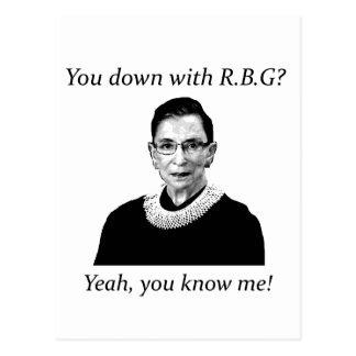 ¿Usted abajo con RBG? Postal
