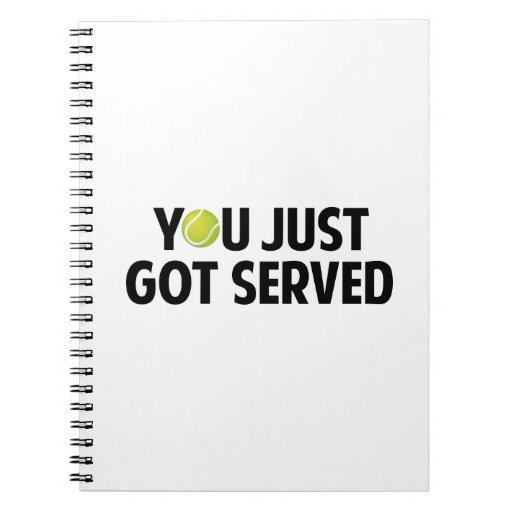 Usted acaba de conseguir servido libros de apuntes