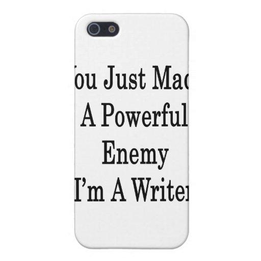 Usted acaba de hacer a un enemigo potente que soy  iPhone 5 coberturas