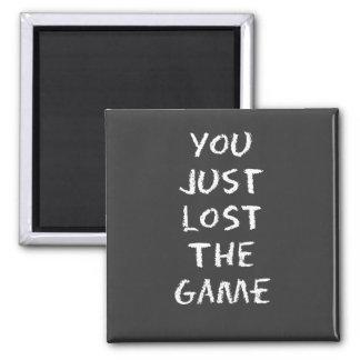 Usted acaba de perder el juego imán cuadrado