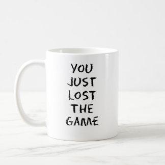 Usted acaba de perder el juego taza de café