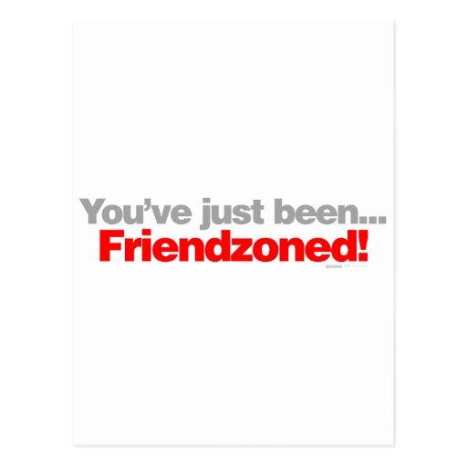 Usted acaba de ser amigo dividido en zonas - tarjetas postales