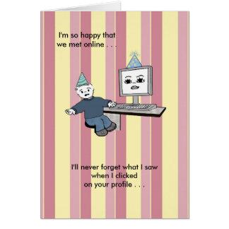 Usted aclara encima de mi pantalla - cumpleaños tarjeta de felicitación