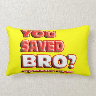 ¿Usted ahorró Bro? Cojín