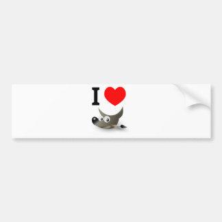 ¿Usted ama el GIMP? ¡Muéstrelo! Pegatina De Parachoque