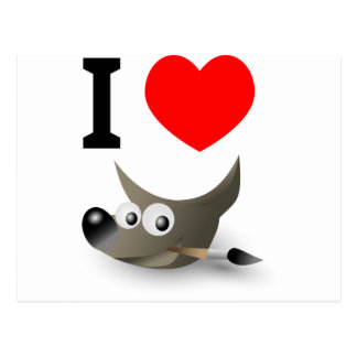 ¿Usted ama el GIMP? ¡Muéstrelo! Postales