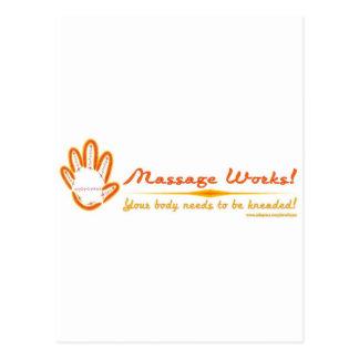 ¡Usted amasa un masaje! Postales
