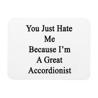 Usted apenas me odia porque soy gran acordeonista iman