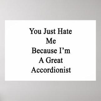 Usted apenas me odia porque soy gran acordeonista poster