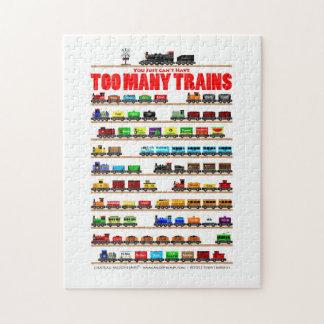 ¡Usted apenas no puede tener demasiados trenes! Puzzle