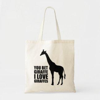 Usted apostó la bolsa de asas de las jirafas del a