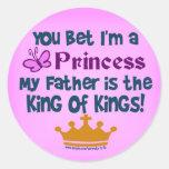 Usted apostó que soy princesa etiqueta redonda