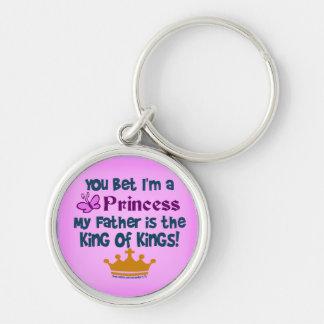 Usted apostó que soy princesa llaveros personalizados
