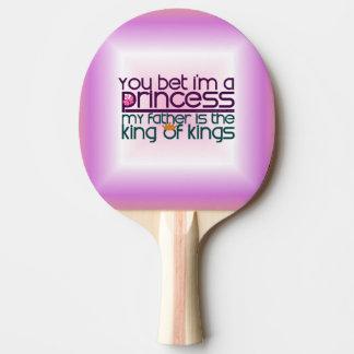 Usted apostó que soy princesa pala de tenis de mesa