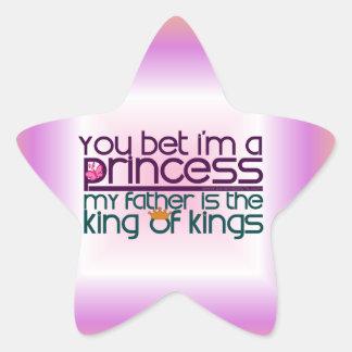 Usted apostó que soy princesa calcomanías forma de estrellaes personalizadas