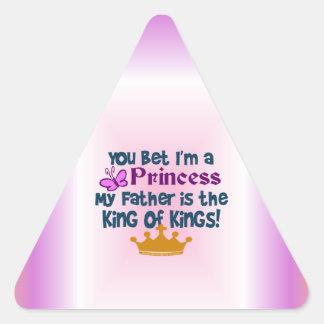 Usted apostó que soy princesa calcomania de triangulo personalizadas