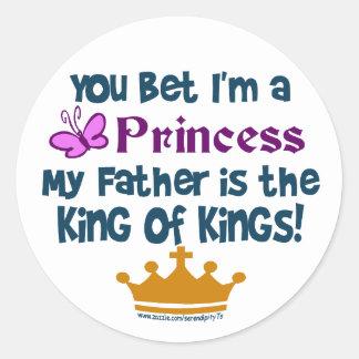 Usted apostó que soy princesa pegatinas redondas