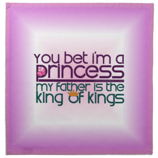 Usted apostó que soy princesa servilletas de papel
